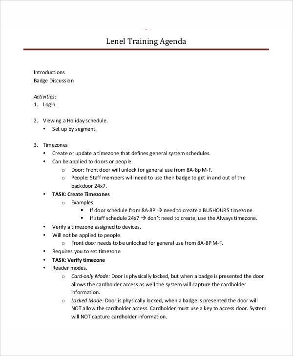 Agenda Schedule Templates   Free Word Pdf Format Download
