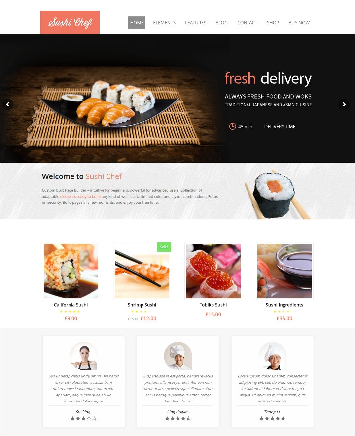 17 online food ordering delivery website templates free premium templates. Black Bedroom Furniture Sets. Home Design Ideas