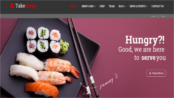 17+ Online Food Ordering & Delivery Website Templates | Free