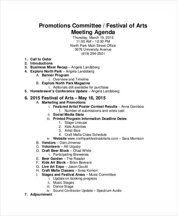 dance festival agenda
