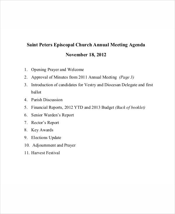 festival annual meeting agenda