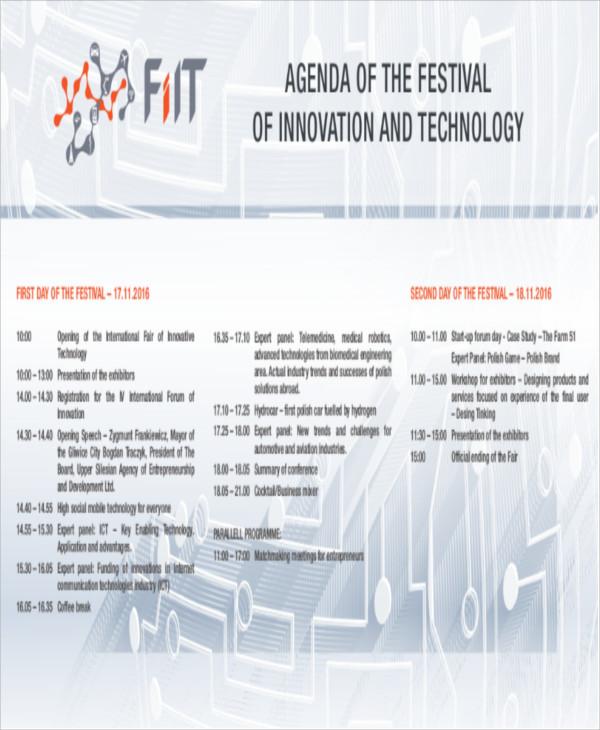 festival program agenda