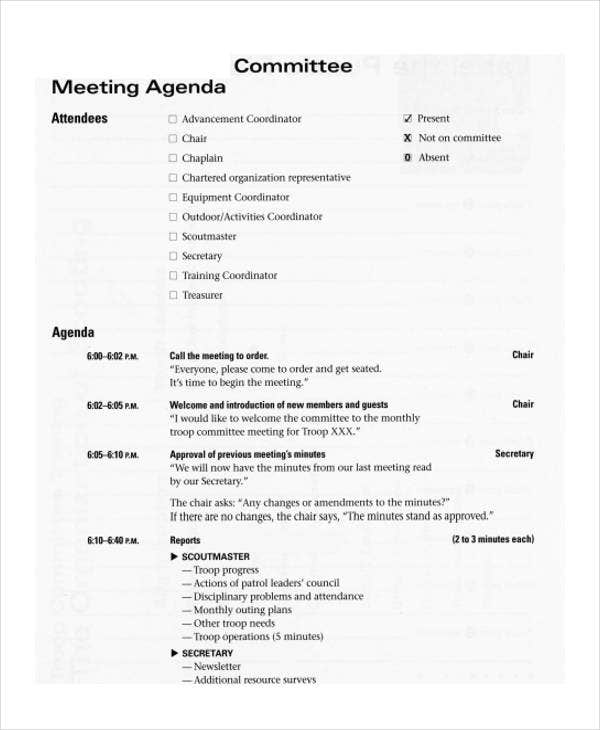 committee meeting agenda2