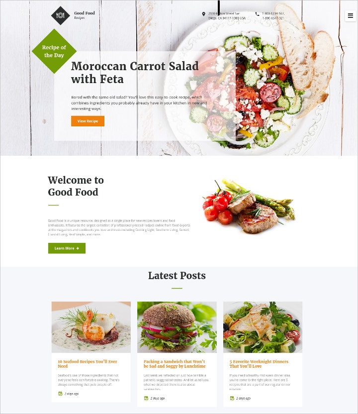 food-recipes-blog-template