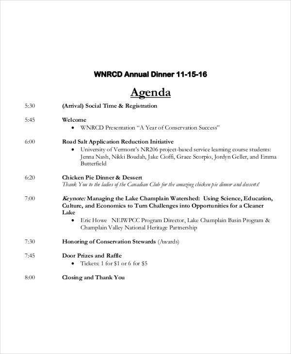 Annual Agenda Template   Free Word Pdf Format Download  Free