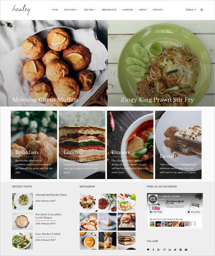 Recipe website template idealstalist recipe website template forumfinder Images
