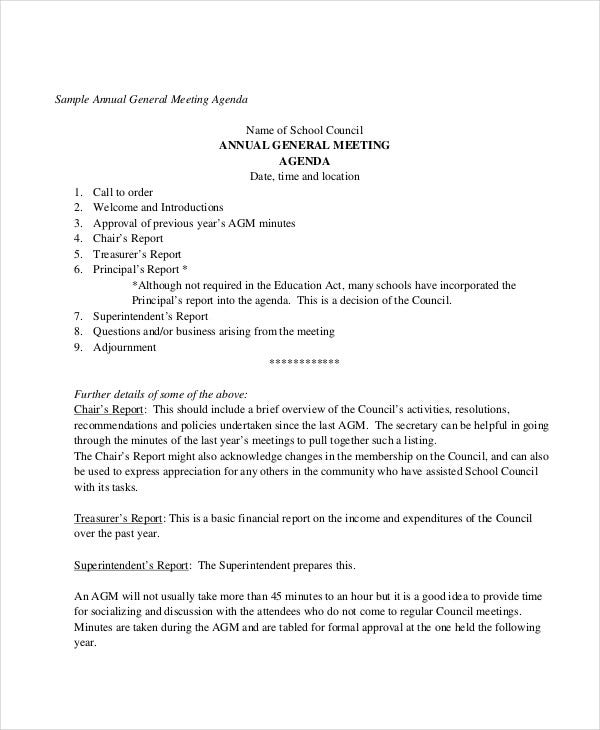 annual general meeting agenda template1