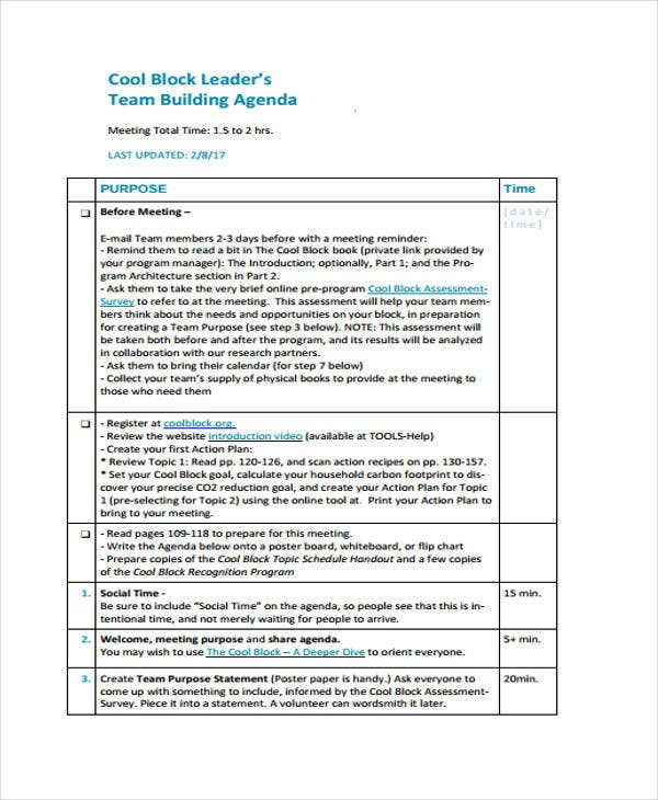 44 agenda templates in pdf free premium templates for Team training plan template