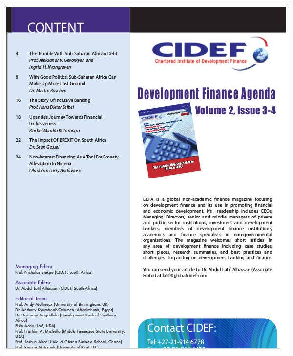 development finance agenda