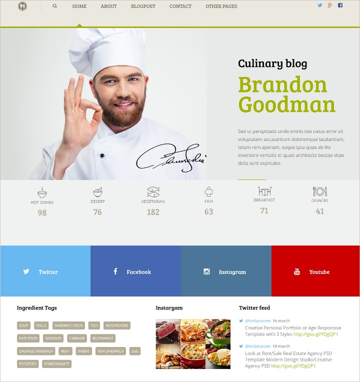 food-recipes-blog-theme