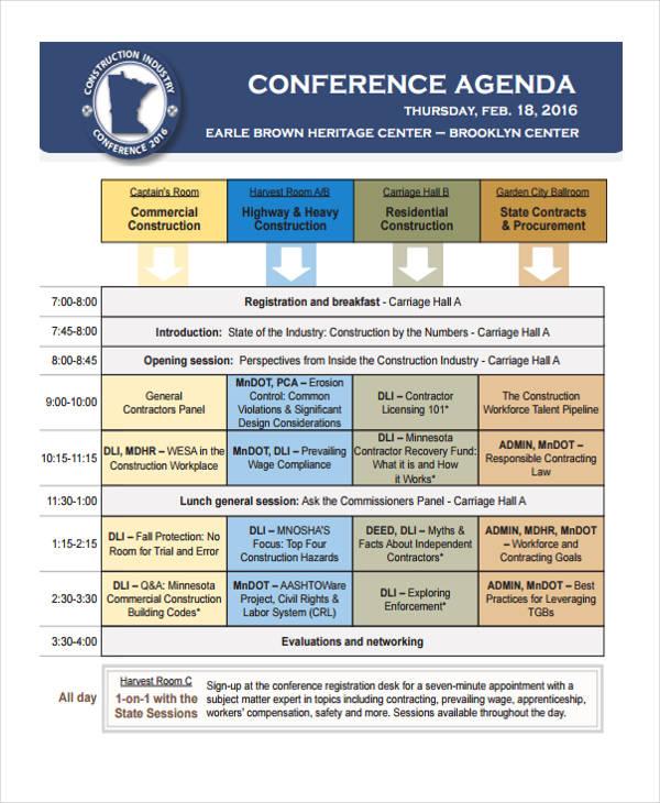Construction Conference Agenda