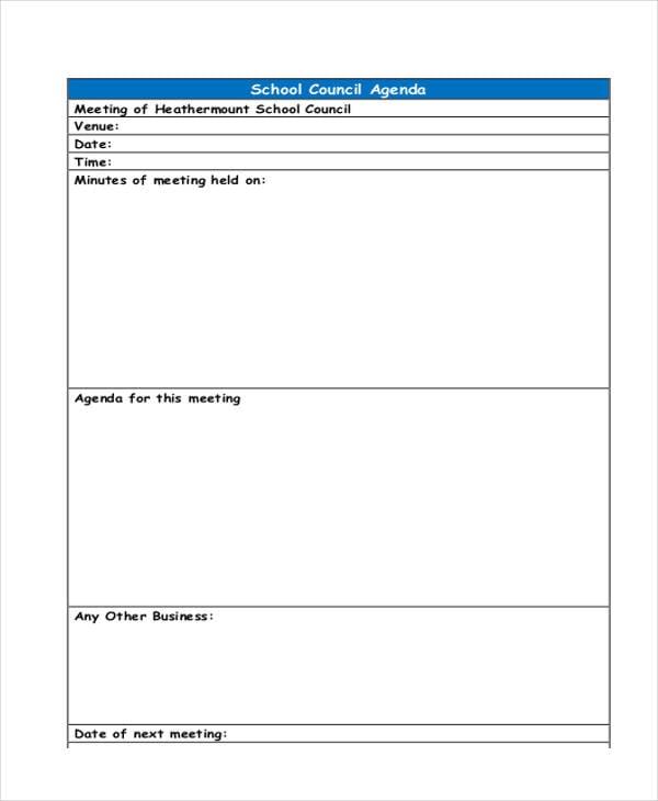 school council agenda2