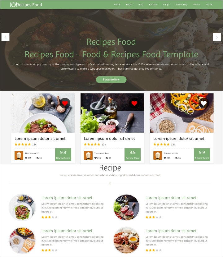food-recipes-html-template
