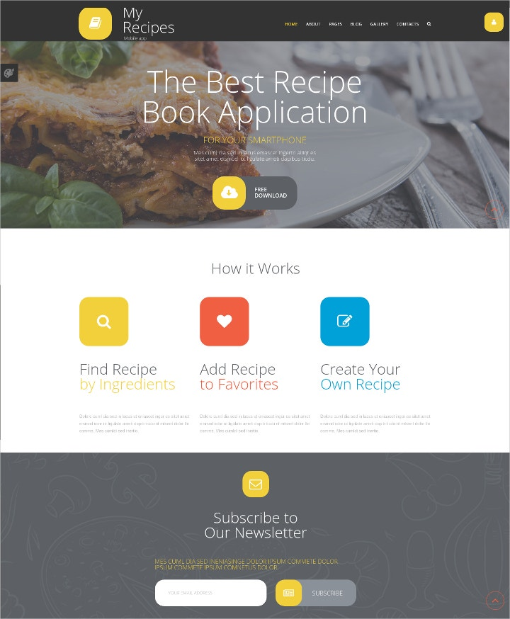food-recipes-joomla-template
