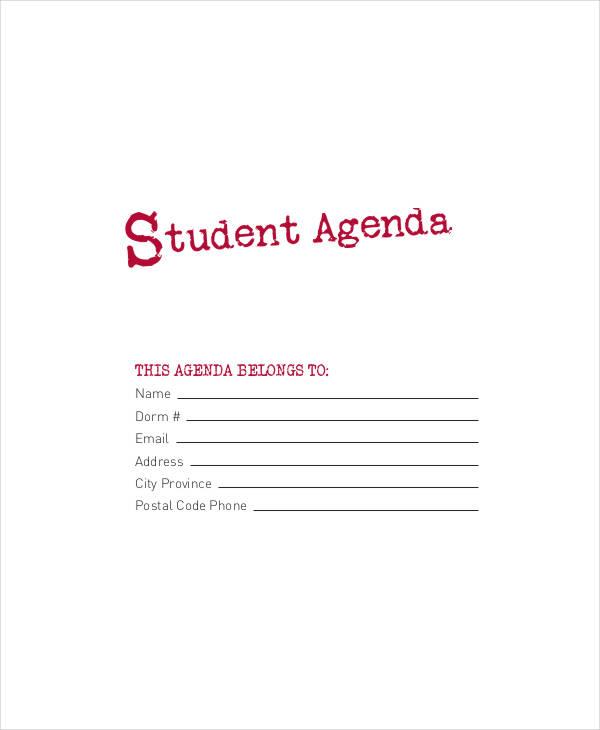 college student agenda