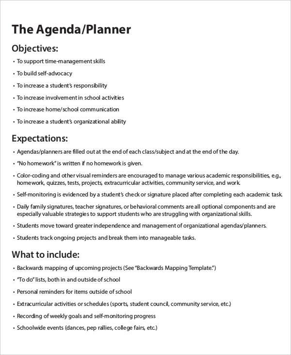35+ Printable Agenda Templates | Free & Premium Templates