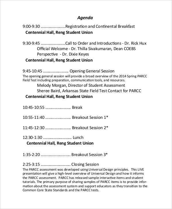 one day conference agenda3