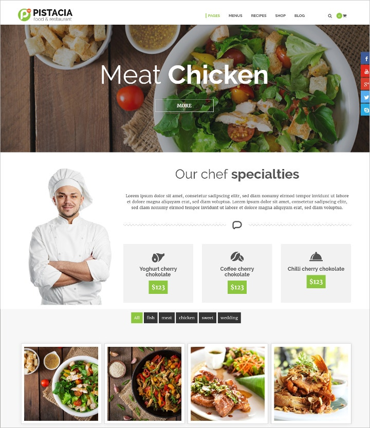 food-recipes-modern-website-template