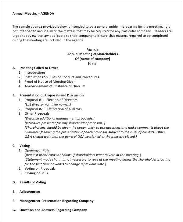annual meeting agenda1