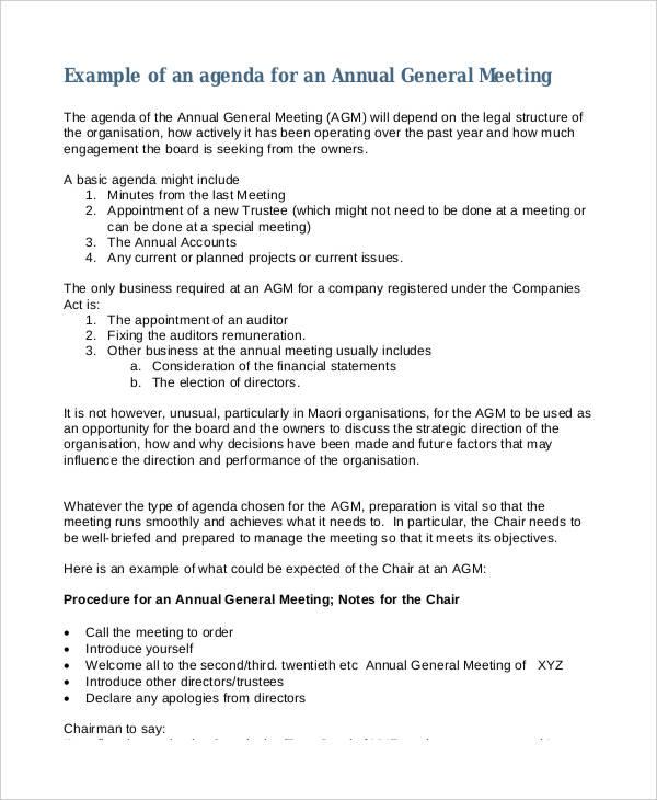 annual general meeting agenda3