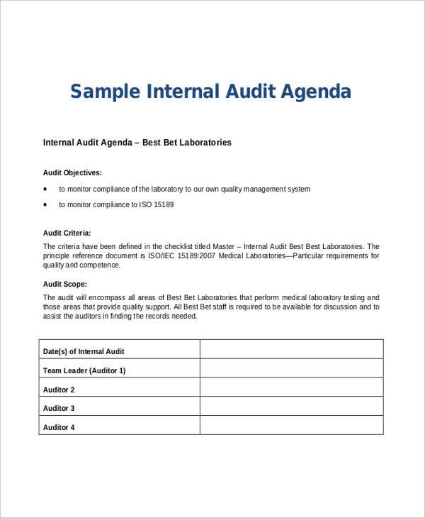 internal audit agenda1