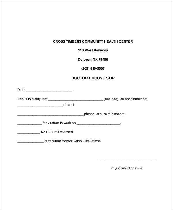 Physician Letter Template For Travel
