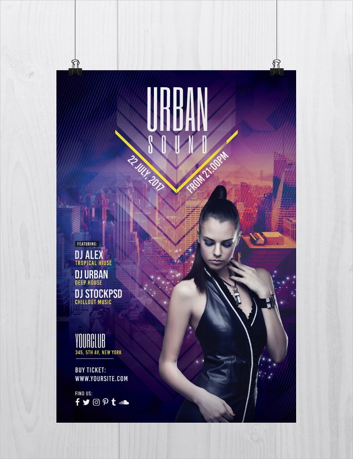 urban-sound-psd-flyer