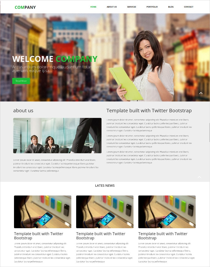 website template for company