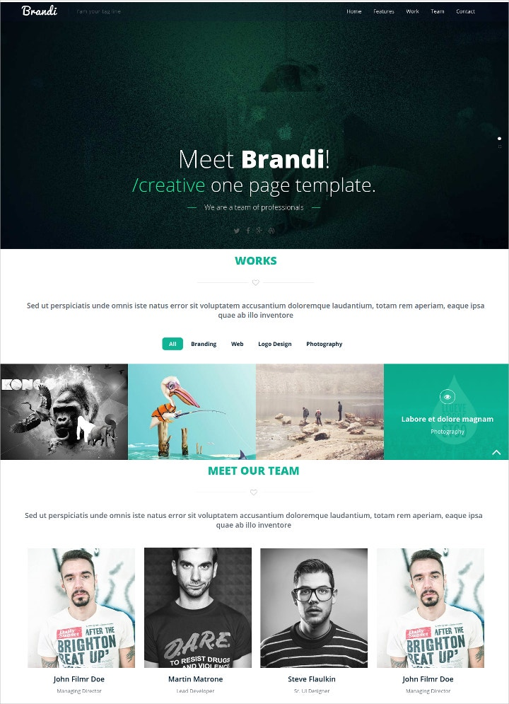 free business company website template