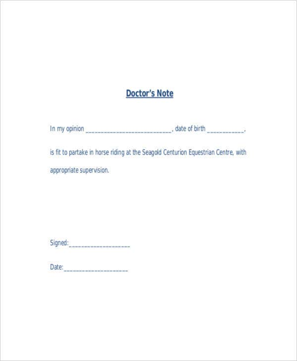 14+ Doctor Note Templates | Free & Premium Templates