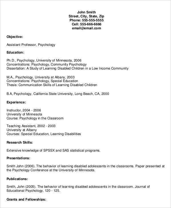20  simple teacher resume templates
