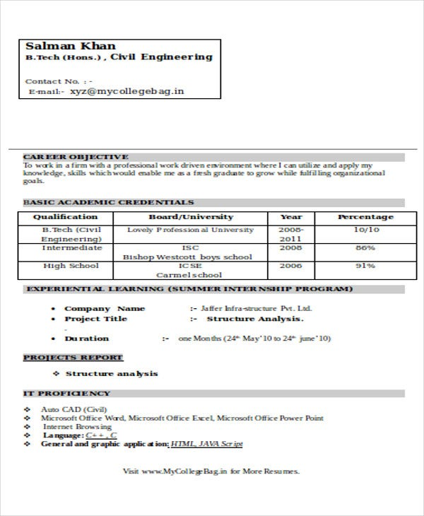 49+ Engineering Resume Samples | Free & Premium Templates