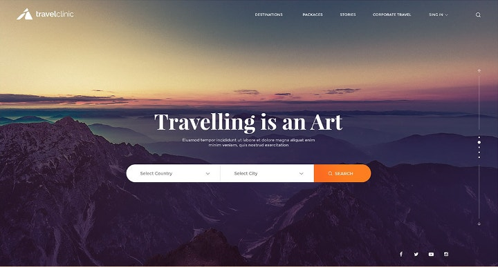 flat-ui-travel-website-design