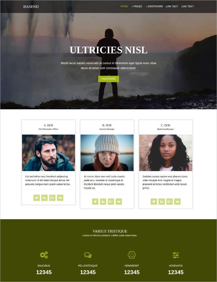 basend-free-html-website-template