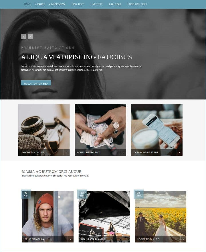 mixed free html website template1