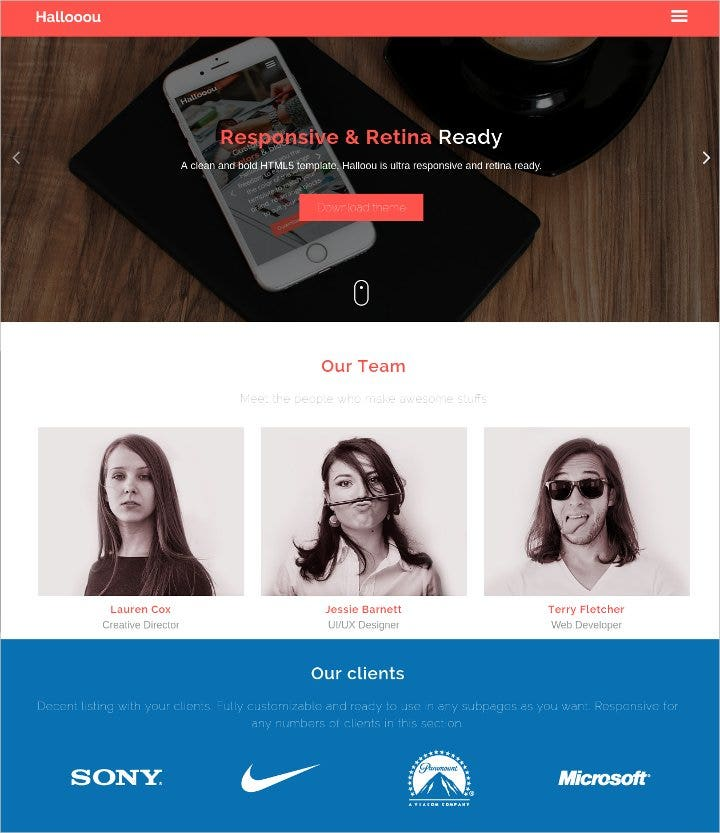 free html5 responsive template2