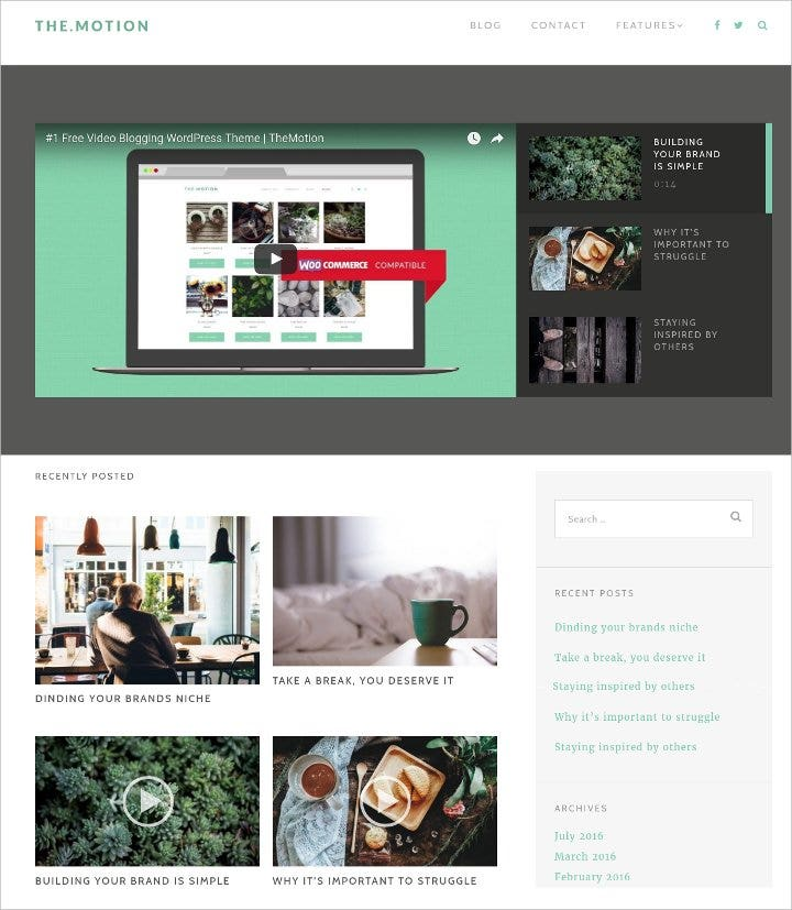 free video blog wordpress theme1