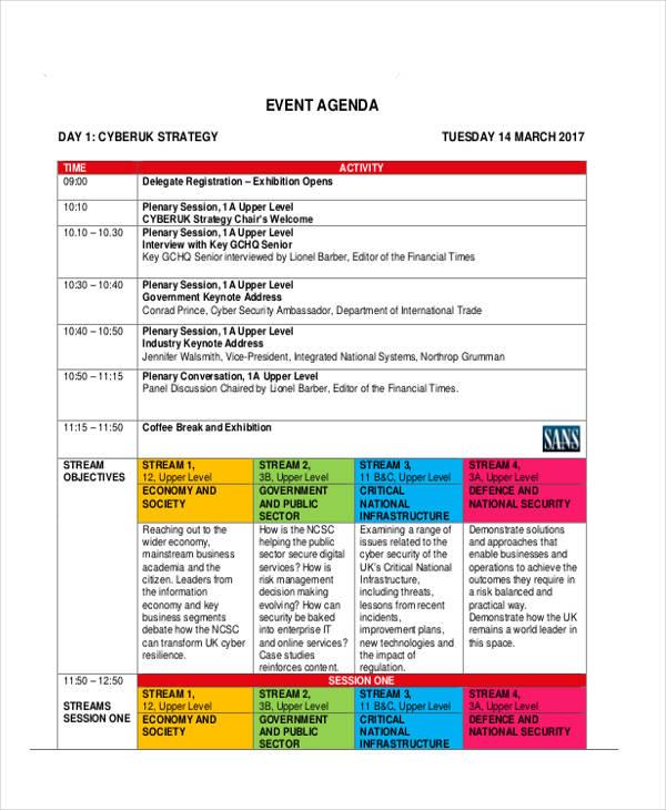 Special Event Agenda  Agenda Design Templates
