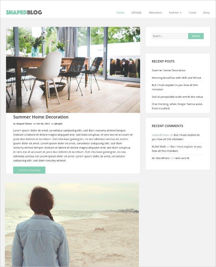free personal blog theme1