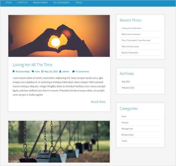 free-minimal-blog-theme