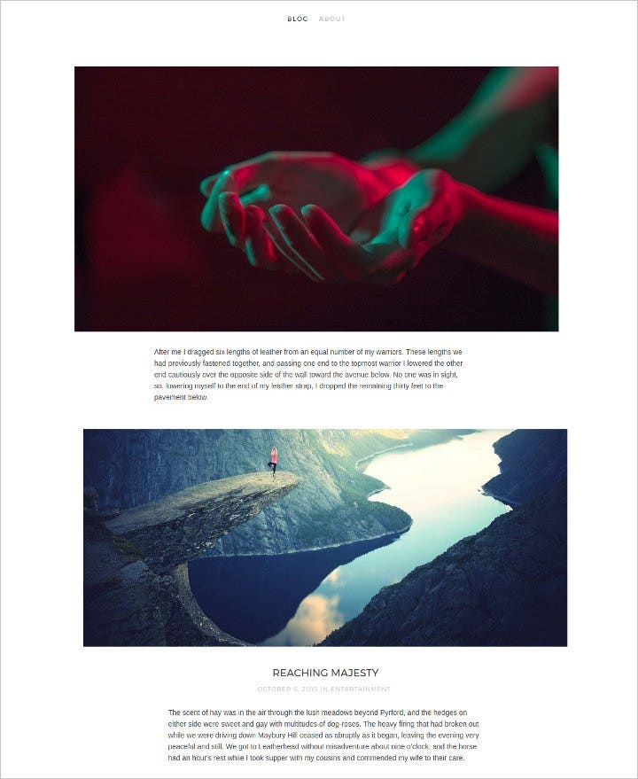 free-photography-blog-theme