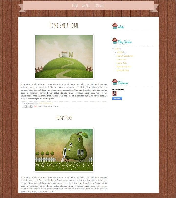 vintage free blog theme1