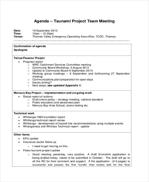 project team agenda2