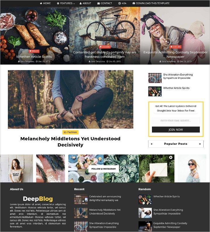 personal free blog theme 1