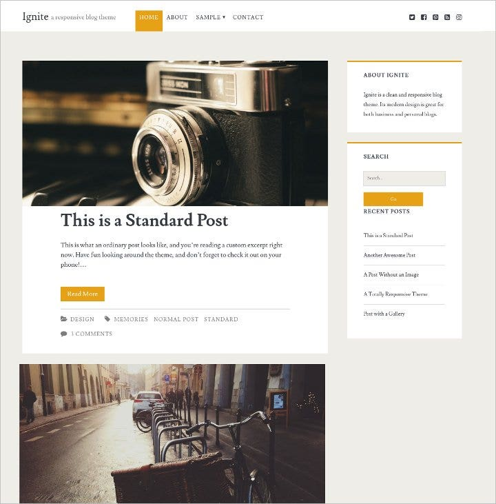 wordpress free blog theme1