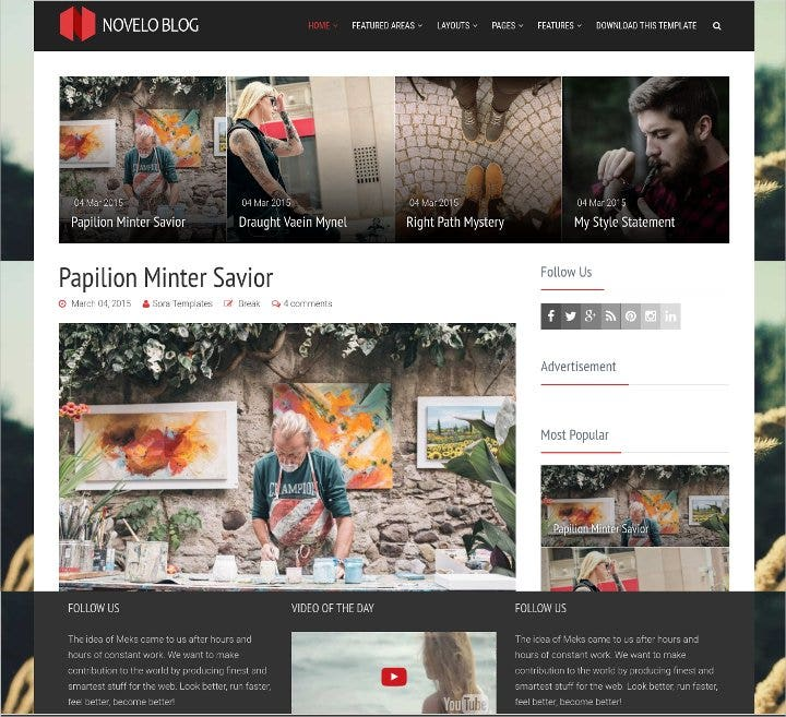 clean responsive blog theme1