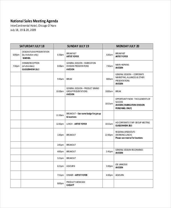 Sales and Marketing Meeting Template