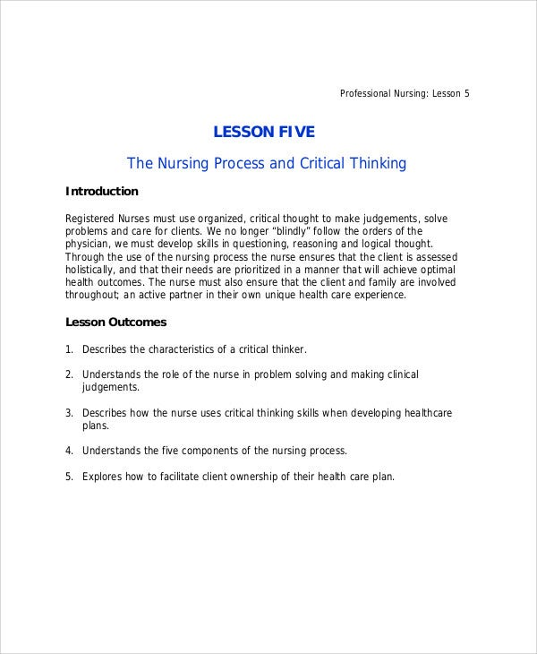 Critical thinking nursing process ppt   Buy Original Essays online Pinterest Critical Thinking