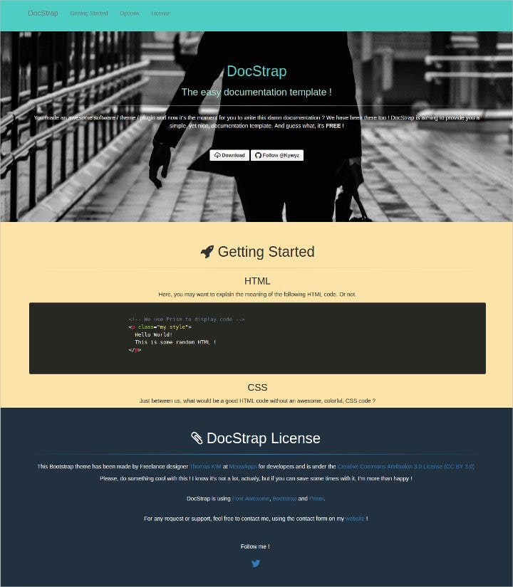 simple bootstrap template2