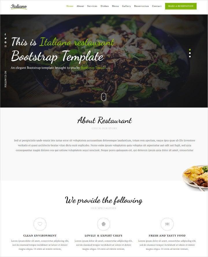 delicious restaurant bootstrap theme1